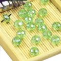 Beads, Selenial Crystal, Crystal, Light green AB, Faceted Discs, 8mm x 8mm x 6mm, 10 Beads, [ZZC113]